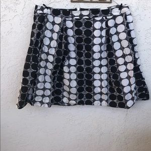 Emily and Fin Black and White Dot Skirt